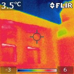 thermal image concrete frame building